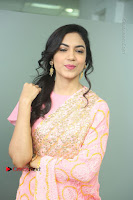 Actress Ritu Varma Pos in Beautiful Pink Anarkali Dress at at Keshava Movie Interview .COM 0085.JPG