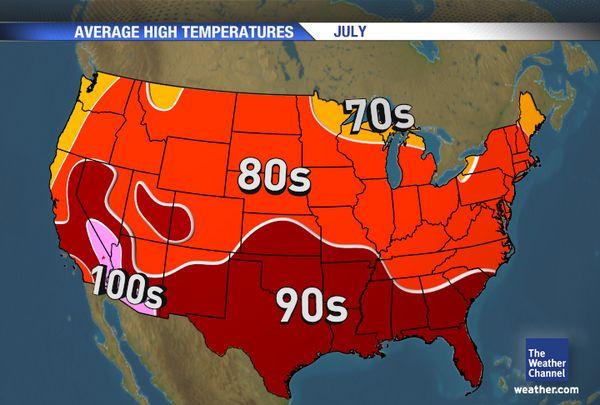 Us Weather Temperature Map