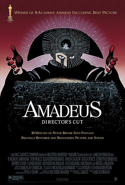 Amadeus 1984 movie poster Milos Forman