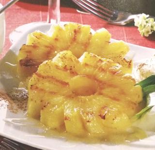 Grillowany ananas z miodem