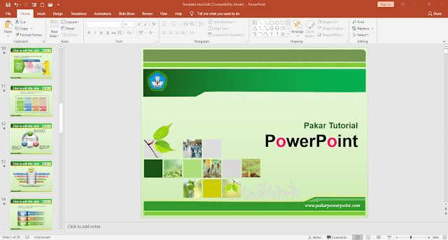 Download template PowerPoint siap pakai