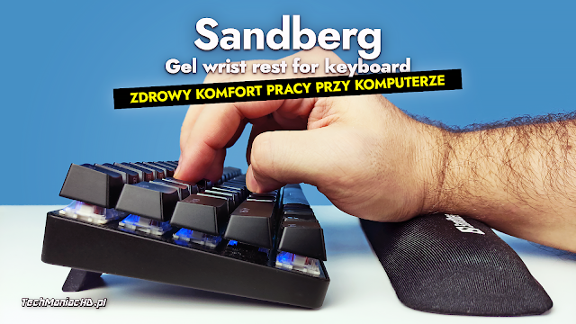 Sandberg Gel wrist rest for keyboard (520-25)