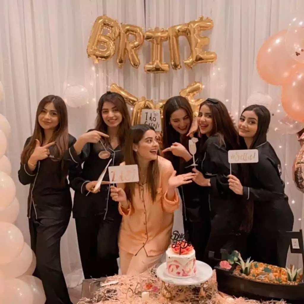 Actress and Fashion Model Minal Khan's Bridal Shower Pictures