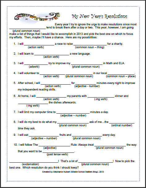 It is a photo of Ridiculous Free Printable Mad Libs for Middle School Students