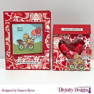 Stamp/Die Duos: Bear Hugs   Custom Dies: Dies: Lever Card, Sentiment  Strips, Mini Tags,Curvy Slopes, Festive Favors,  Paper Collection: Sweet Hearts