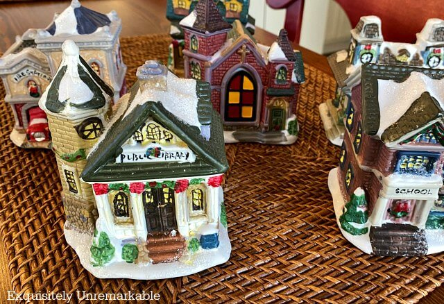 Dollar Store Mini Village Makeover