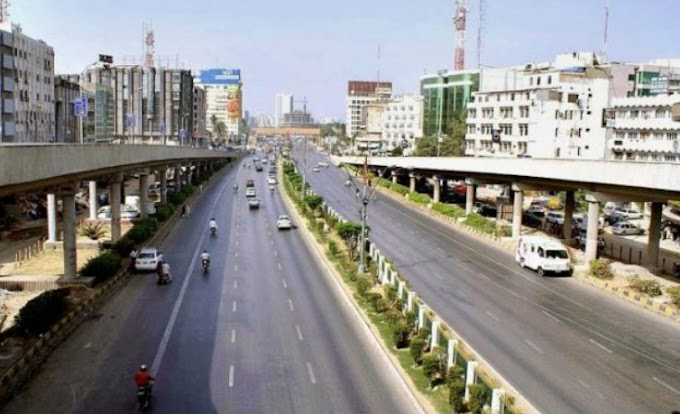 A portion of Sharae Faisal of Karachi has been closed due to construction