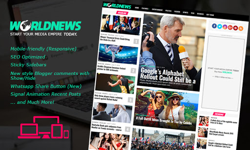 World news blogger template free download