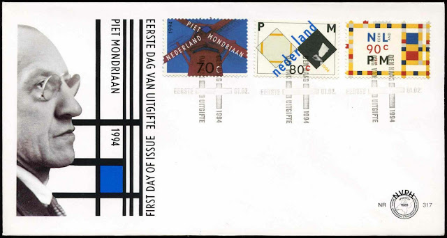 Netherlands 1994 Piet Mondriaan FDC First Day Cover