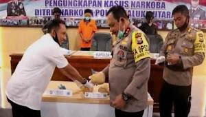 Polisi Bongkar peredaran jaringan Narkoba yang dikendalikan dar Lapas