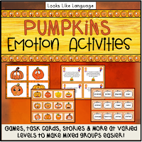 Teaching emotions and problem solving with a pumpkin theme!