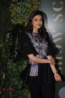Actress Kajal Aggarwal Stills in Black Dress at Lakme Fashion Week Summer Resort 2017  0009.jpg