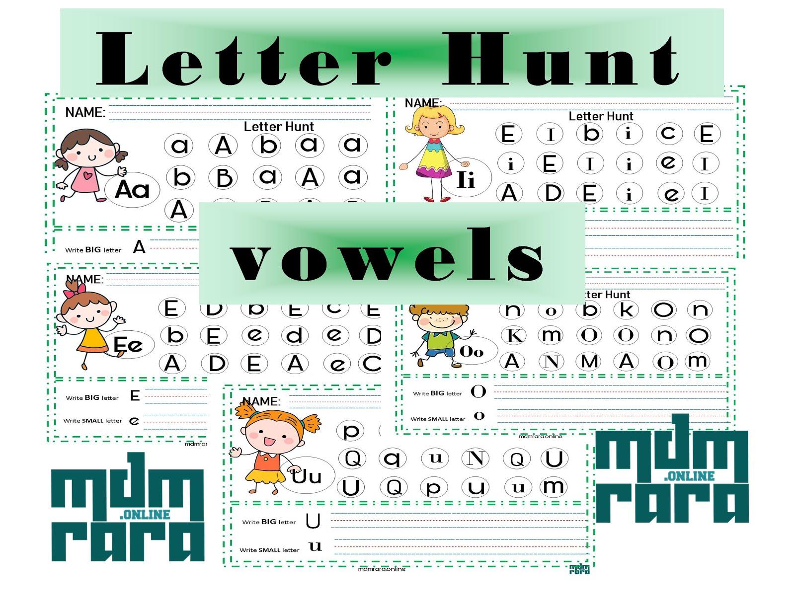 Letter Hunt Vowels