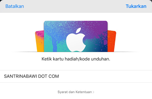 Jasa iTunes Gift Card (IGC) iPhone/iPad Wilayah Indonesia Terpercaya
