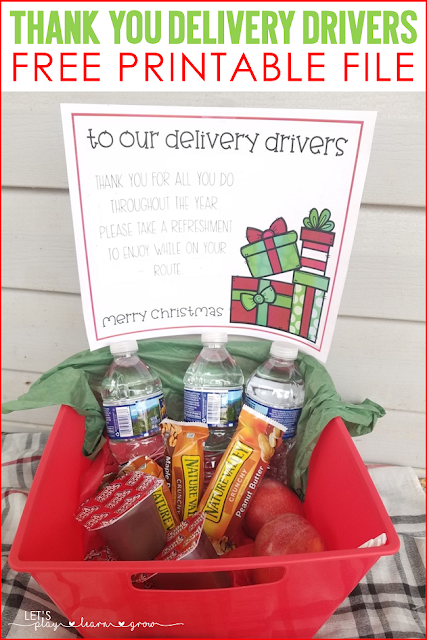 During the holidays, delivery drivers work extra hard to get all our packages to us. Treat them to a small refreshment to thank them for all the work they do.