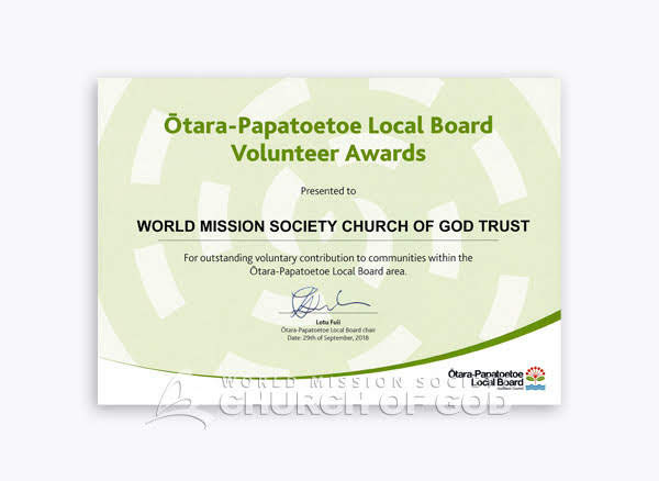 2018-09-29 New Zealand 4th Auckland Ōtara Papatoetoe Local Board Volunteer Award