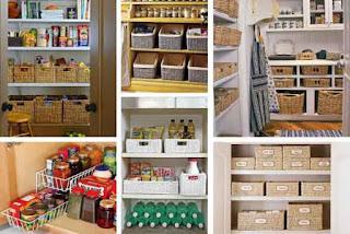 Armários de cozinha organizados