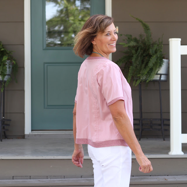 Hot Patterns 1226 Slouchy tee made with Sewing Studio fabric and the Pfaff Creative Icon
