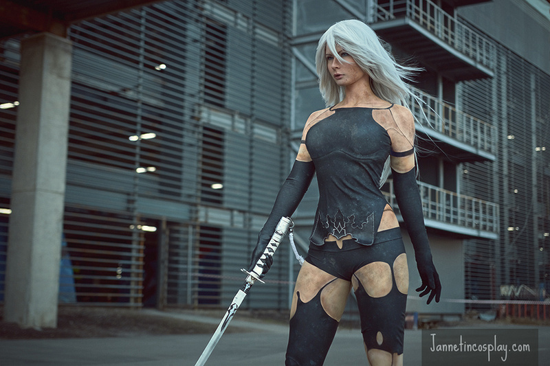 jannet vinogradova sexy a2 from nier: automata cosplay 03