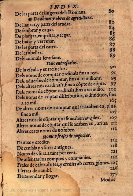 ONOPHRIO POVIO, Onofre Pou, dicsionari, index