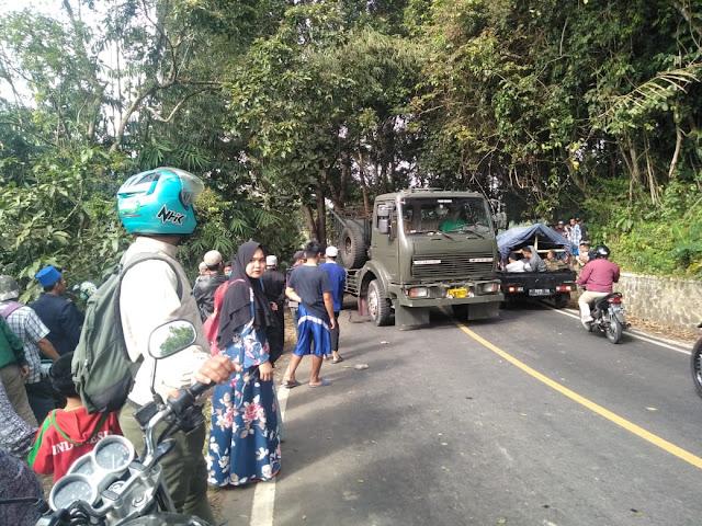Kecelakaan Maut di Sukabumi, Elf Masuk Jurang, 1 Tewas dan 7  Dievakuasi Ke RSUP