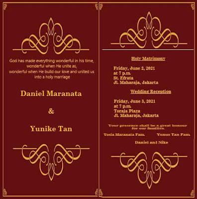 contoh undangan pernikahan kristen 8