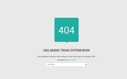 Halaman Error 404 Untuk Blogspot