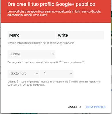 dati profilo