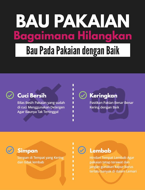 cara menghilangkan bau pakaian Bau dengan Mudah