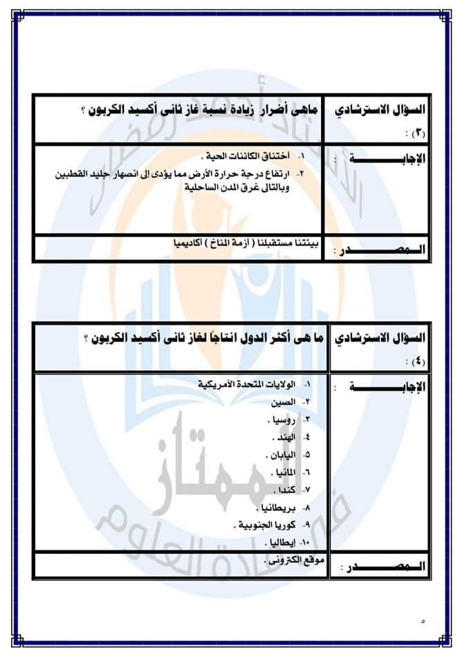 نموذج استرشادى للبحث المطلوب من قبل وزارة التربية والتعليم شامل جميع المواد أ/ أحمد رمضان 4