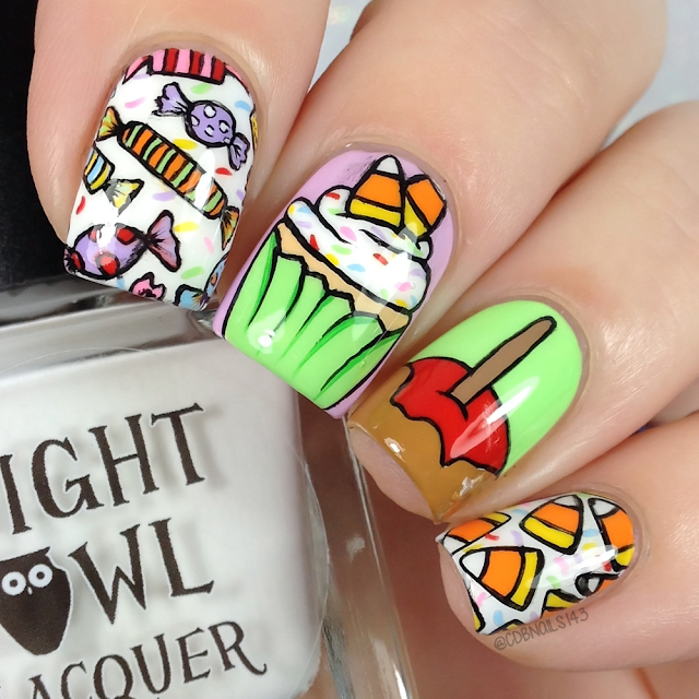 cdbnails-Halloween Nails-Candy Nails