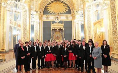 Vladimir Putin had a meeting with members ofWorldSkills-Russia national team.