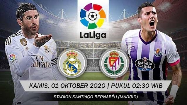Prediksi Real Madrid Vs Real Valladolid, Kamis 01 Oktober 2020 Pukul 02.30 WIB