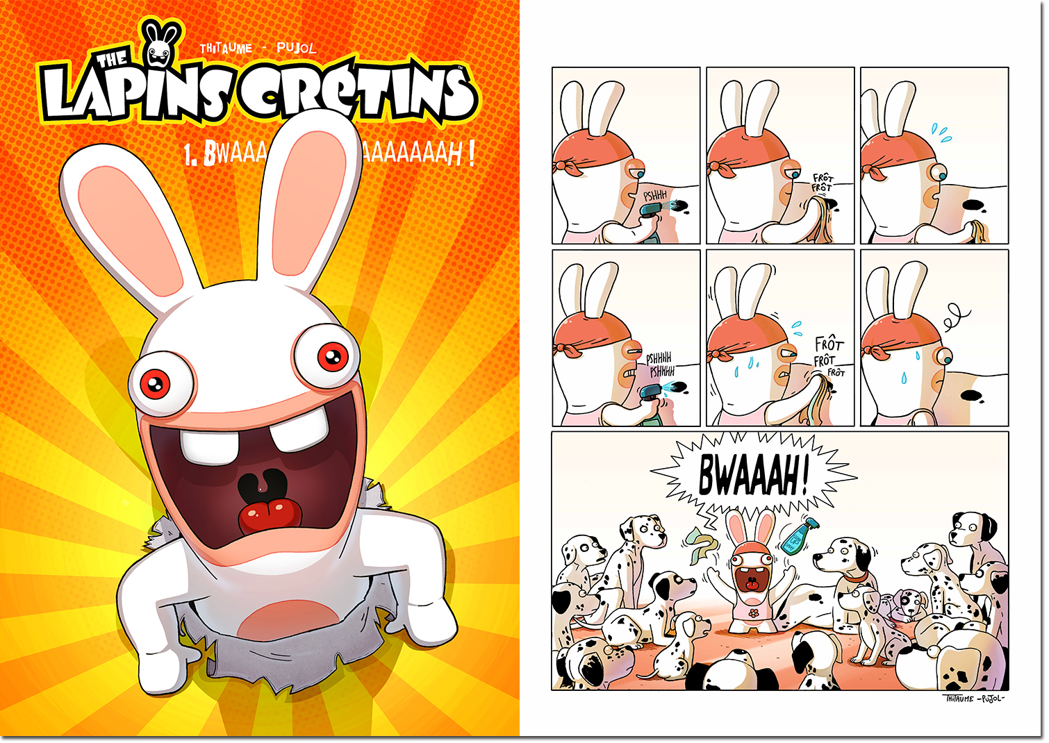 i could see that front page as a jump scare in a fnaf style keep the bunnies away from you rabbids horror game