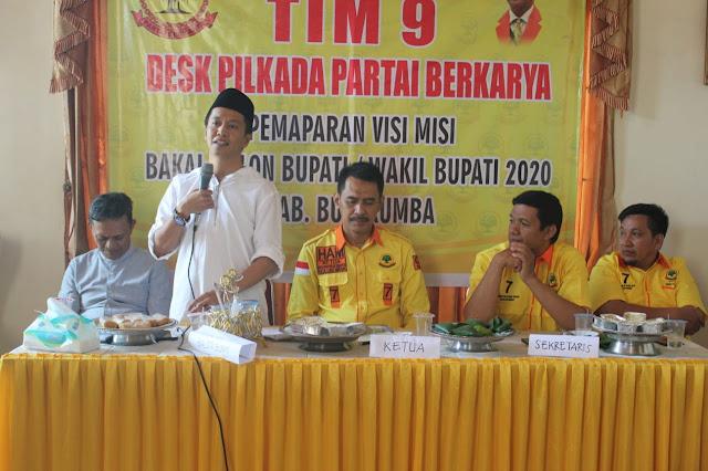 Jamaluddin M Syamsir Paparkan Visi Misi Sebagai Calon Bupati Bulukumba