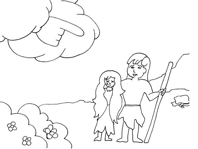 Cantinho Do Evangelismo Infantil Adao E Eva Desenhos Para Colorir