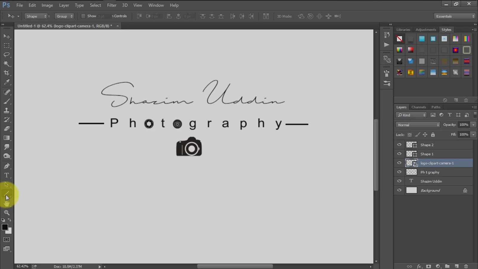 how to create own signature logo for photography screenshot 3