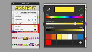 cara warna teks di picsay pro