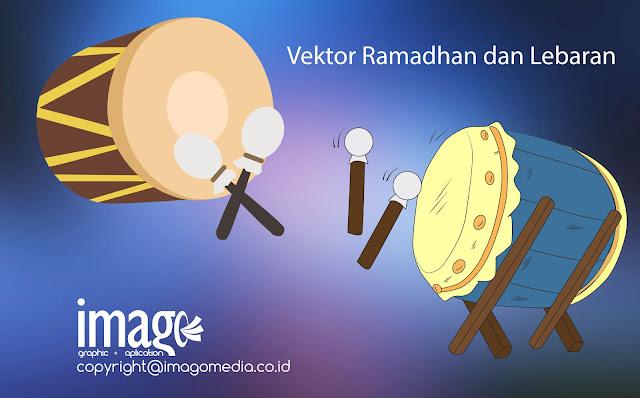 Download_Vector_Bedug_Ketupat_Siluet_Masjid_Paket_Lebaran_dan_Ramadhan