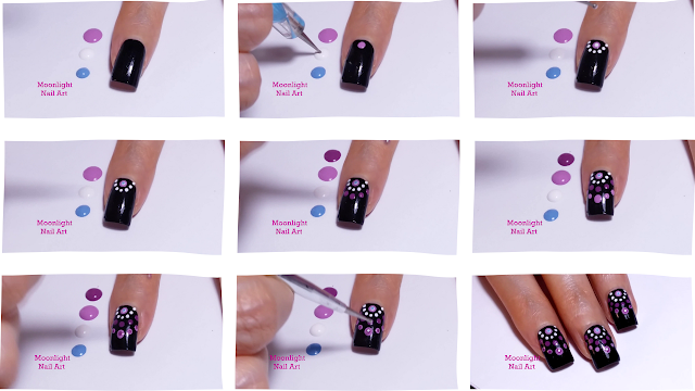 Mandala Nail Design – Easy Dotting Tool Nail art Tutorial