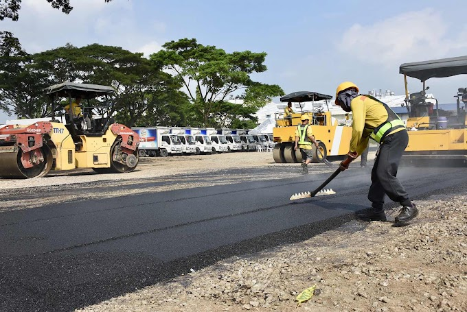 San Miguel Corporation debuts PH's first recycled plastic road   Press Release