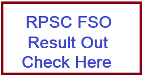 RPSC FSO Recruitment Result 2020