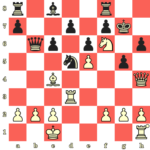 Les Blancs jouent et matent en 4 coups - Oskar Tenner vs H Wegemund, Hambourg, 1910