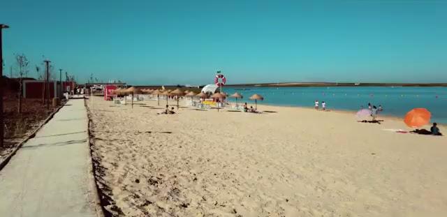 Areal da Praia dos Cinco reis em Beja