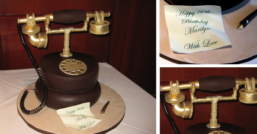 Confectionary Designs Old Fashioned Telephone Cake