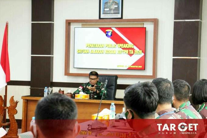 Pangdam Tanjungpura : Tugas Prajurit Penerangan Menyampaikan Informasi Yang Benar Kepada Masyarakat