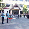 Kabag Binkar Pimpin Apel Pengumuman  Hasil Rikkes Peserta Seleksi PAG TA 2019 Polda Sulsel