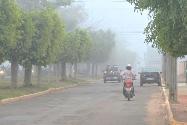 Semana começa chuvosa e friagem deve atingir todo o centro sul de Rondônia, diz Sipam