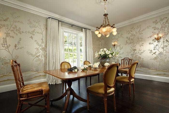 Wandgestaltung Esszimmer Landhausstil - Schöne Küche Design