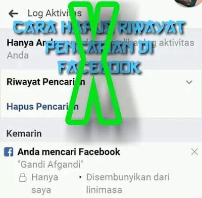 Cover Cara Hapus Pencarian di Facebook